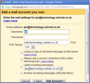 managing pop email through gmail