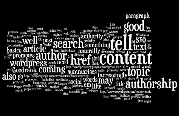 basics of SEO wordcloud