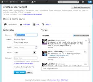 create twitter  widget